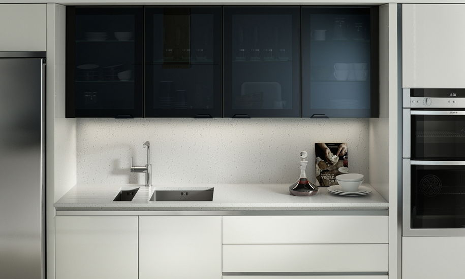Feature Black Glazed Kitchen