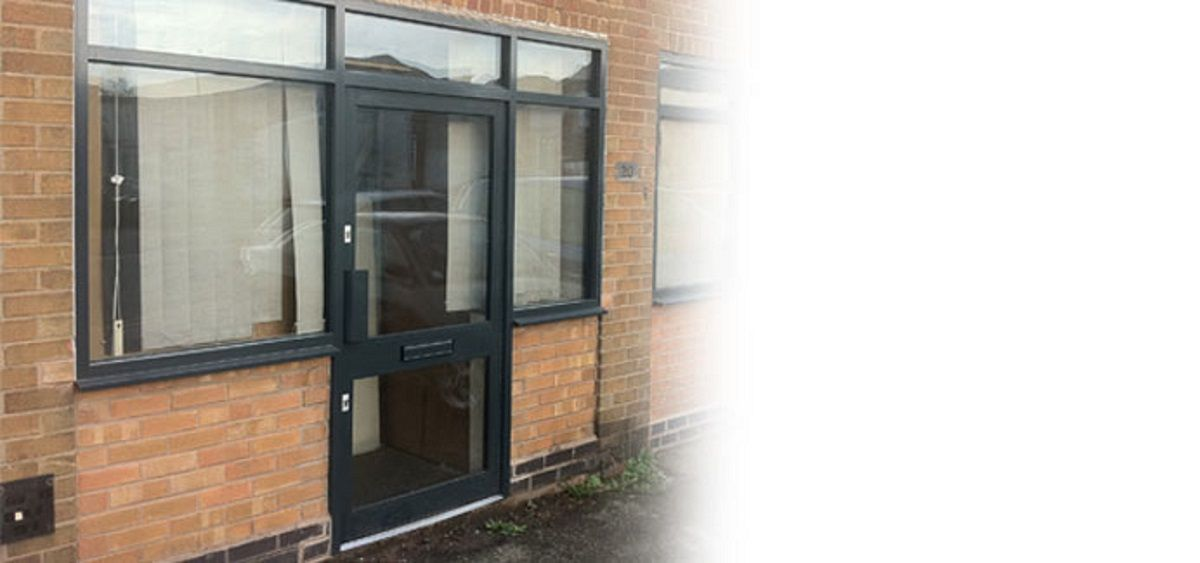 black-commercial-aluminium-doors-sussex