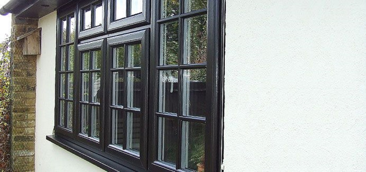 black georgian casement windows in eastbourne sussex