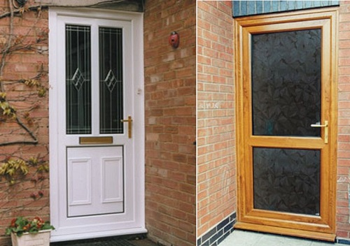 front and back doors