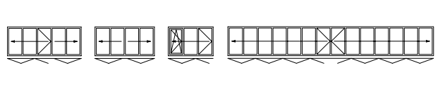 opening options for aluminium bifolding doors