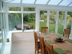 conservatory with a polycarbonate roof