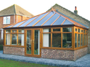 golden oak conservatory in eastbourne