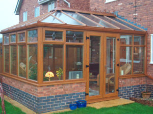 golden oak conservatory in polegate