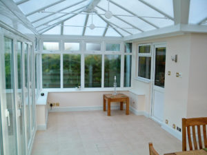 internal view of a conservatory