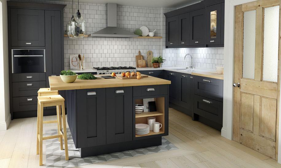 milbourne charcoal kitchen design