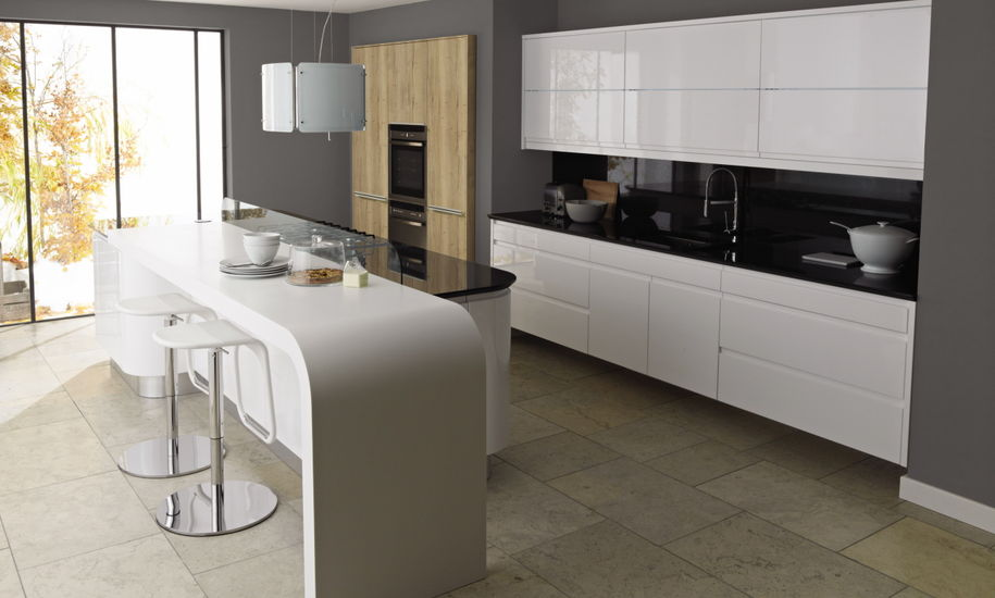remo gloss white kitchen design