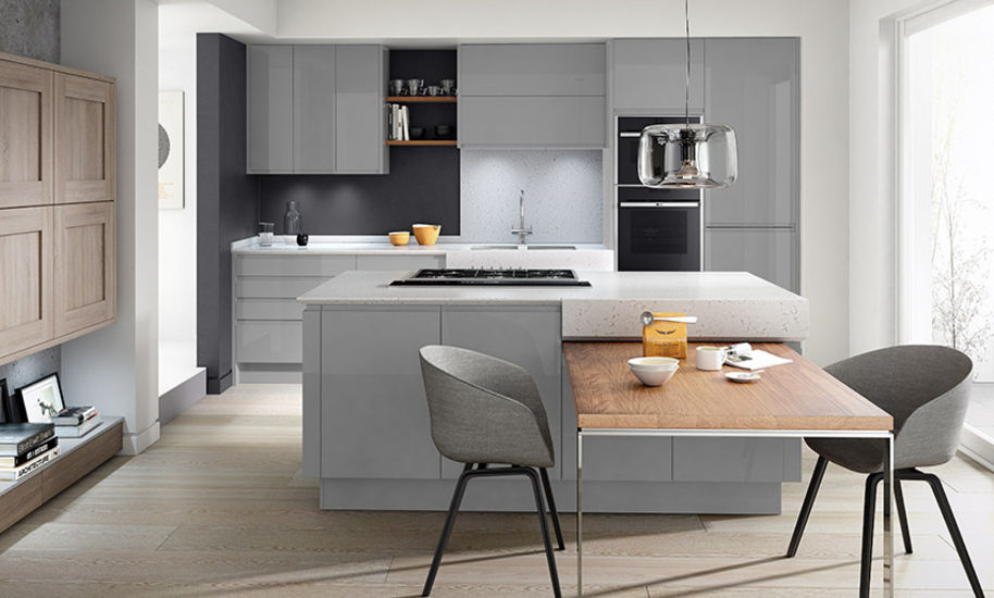 remo silver grey kitchen design